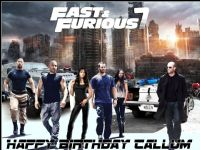 A4 Fast and Furious 7  Edible Icing or Wafer Cake Topper